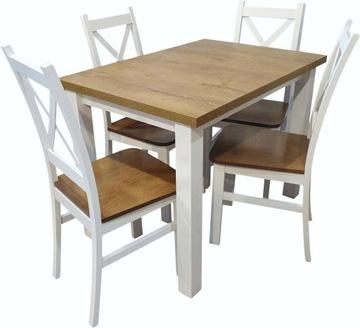 Стол со стульями белый дуб комплект 4 стула Z055 доставка товаров из Польши и Allegro на русском