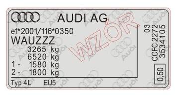Табличка / наклейка стартера Audi доставка товаров из Польши и Allegro на русском
