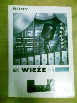 проспект,рекламный папку Sony mini проигрыватели Hi-Fi доставка товаров из Польши и Allegro на русском