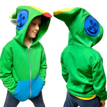 Bluza dziecięca LEON rozpinana zielona 140