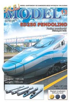 SM#13 Поезд Pendolino модель картонный доставка товаров из Польши и Allegro на русском