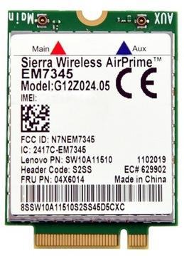 МОДЕМ WWAN LTE LENOVO SIERRA EM7345 IBM WIRELLES доставка товаров из Польши и Allegro на русском