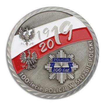 Медаль 100 лет Полиции в Польше доставка товаров из Польши и Allegro на русском