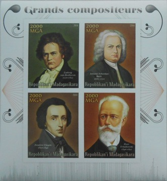 F. Chopin Szopen Мадагаскар ark. #MDG14-76 РАЗРЕЗАН доставка товаров из Польши и Allegro на русском