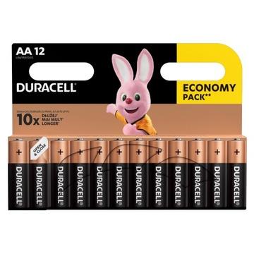 Щелочные батарейки Duracell AA LR6 x 12 доставка товаров из Польши и Allegro на русском