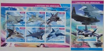 Самолеты истребители Djibouti arkusik+блок #1496a-b доставка товаров из Польши и Allegro на русском