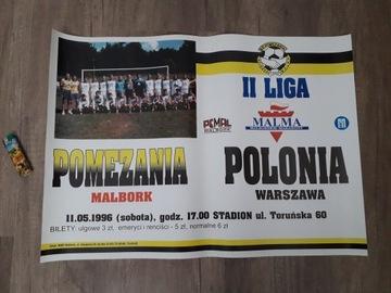 AFISZ Z MECZU POLONIA WARSZAWA1995 доставка товаров из Польши и Allegro на русском