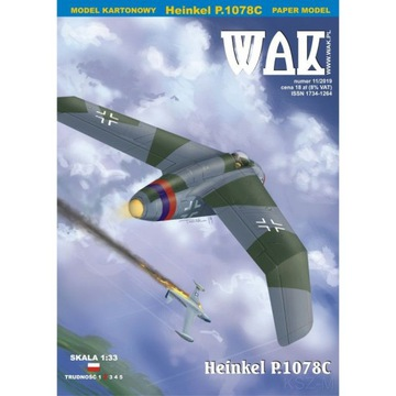 ОАК 11/19 - истребитель Хейнкель P. 1078C 1:33 доставка товаров из Польши и Allegro на русском