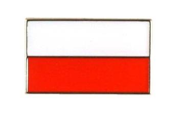 Флаг Польша, застежка Президентская pin wink знак доставка товаров из Польши и Allegro на русском