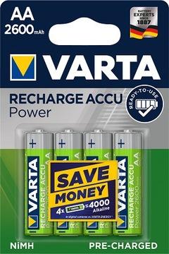 Аккумуляторы аккумуляторы VARTA R6 AA 2600 mAh R2U 4шт доставка товаров из Польши и Allegro на русском
