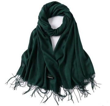 ПЛАТОК, шарф кашемировый КАШЕМИР БУТЫЛКУ зеленого доставка товаров из Польши и Allegro на русском
