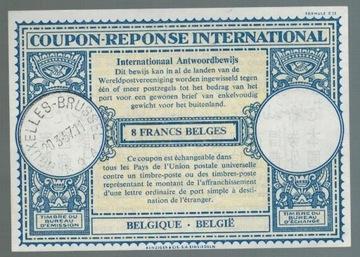 Бельгия 1957 IRC Международный купон ответа доставка товаров из Польши и Allegro на русском