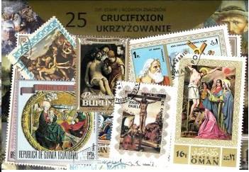 Набор из 25 почтовых марок - РАСПЯТИЕ доставка товаров из Польши и Allegro на русском