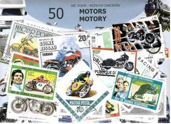 Набор из 50 почтовых марок - МОТОЦИКЛЫ доставка товаров из Польши и Allegro на русском