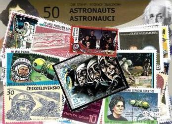 Набор из 50 почтовых марок - АСТРОНАВТЫ доставка товаров из Польши и Allegro на русском