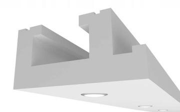 Потолок подвесной Карниз Освещения Простой + LED доставка товаров из Польши и Allegro на русском