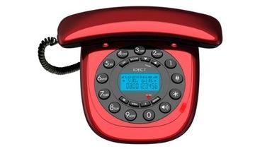 Красивый стильный стационарный телефон IDECT РЕТРО доставка товаров из Польши и Allegro на русском