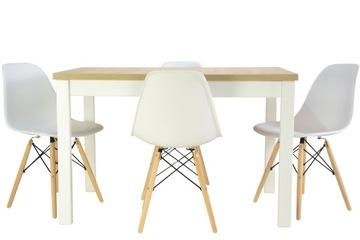 Скандинавская кухня обеденный стол 70x120/160 и 4 стула доставка товаров из Польши и Allegro на русском