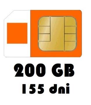 Интернет на карту 200GB Orange Free 155 дней, LTE доставка товаров из Польши и Allegro на русском