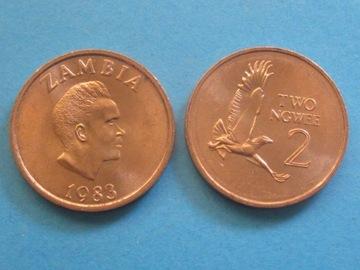 Замбия Монета 2 Ngwee 1983 UNC Mennicza доставка товаров из Польши и Allegro на русском