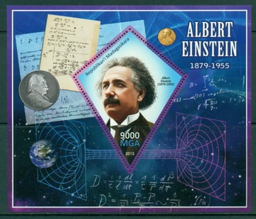 А Эйнштейн, лауреат Нобелевской премии физика атом блок #MDG1366 доставка товаров из Польши и Allegro на русском