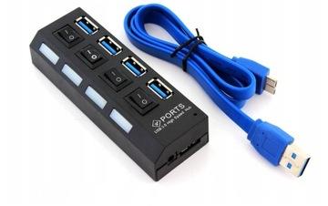НАСТОЯЩИЙ КОНЦЕНТРАТОР USB 3.0 КОНЦЕНТРАТОР на 4 порта 5 гбит/сек доставка товаров из Польши и Allegro на русском