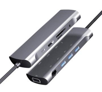 4Apple Pro HUB 10w1 USB-C, LAN, VGA, HDMI, USB MacBook доставка товаров из Польши и Allegro на русском