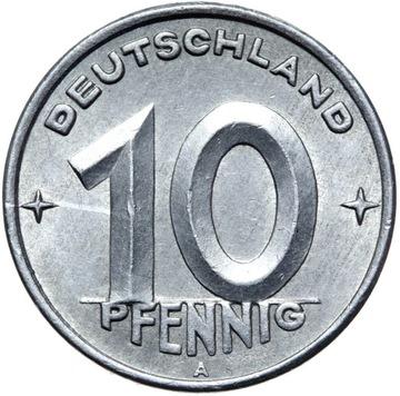 Германия DDR - монета - 10 Pfennig 1948 Года, А - БЕРЛИН доставка товаров из Польши и Allegro на русском