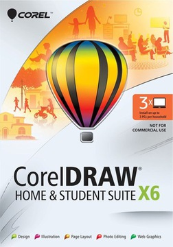 CorelDRAW Home&Student X6 PL 3ШТ коробка доставка товаров из Польши и Allegro на русском