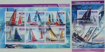 Jachty żaglówki Djibouti arkusik+blok #11149a-b доставка товаров из Польши и Allegro на русском