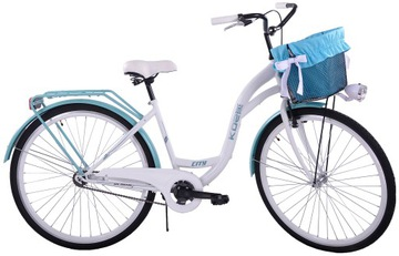 Женский городской велосипед 28 KOZBIKE K21-S1 с корзиной доставка товаров из Польши и Allegro на русском