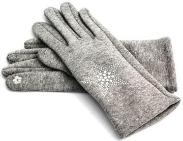 Сенсорные перчатки женские утепленные трикотажные хит доставка товаров из Польши и Allegro на русском