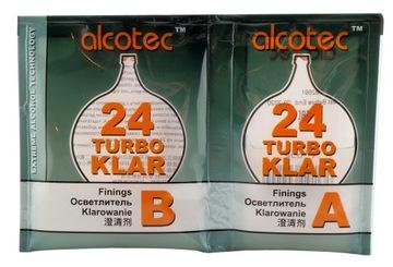 Klar ALCOTEC Turbo 24 часа Затирания Вино Пояснение 25Л доставка товаров из Польши и Allegro на русском