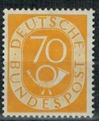 Германия 1951 г. Марка 136 ** циркуляционная труба  доставка товаров из Польши и Allegro на русском