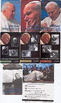 Папа римский Иоанн Павел II - серия коллекционных карт доставка товаров из Польши и Allegro на русском