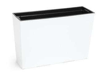 Donica WERBENA POŁYSK 19x56x36 5 wkł i system Biała