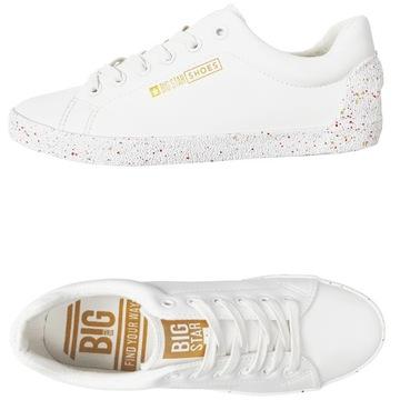 Обувь Big Star женские кроссовки белые AA274a007 38 доставка товаров из Польши и Allegro на русском
