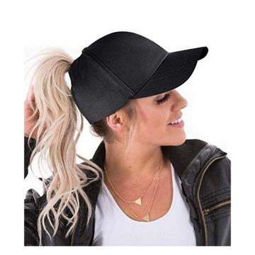Бейсболка PONYTAIL мода на пони BLACK доставка товаров из Польши и Allegro на русском