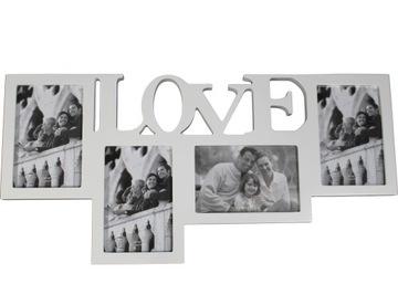 (БЕЛАЯ Рамка для фотографий LOVE) доставка товаров из Польши и Allegro на русском