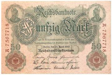 Германия - КУПЮРА - 50 Марок 1910 - Ro: 42 доставка товаров из Польши и Allegro на русском