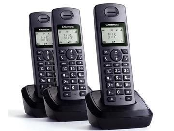 Telefon bezprzewodowy Grundig D1115 3-słuchawki доставка товаров из Польши и Allegro на русском