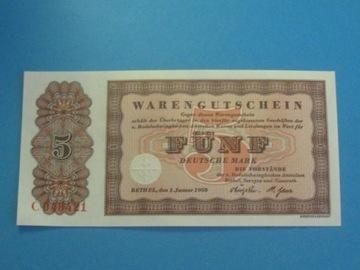Банкнота Германия 5 Марк 1958 ! UNC Бетел доставка товаров из Польши и Allegro на русском