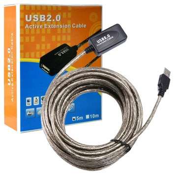 Активный УДЛИНИТЕЛЬ USB High Quality кабель 5м доставка товаров из Польши и Allegro на русском