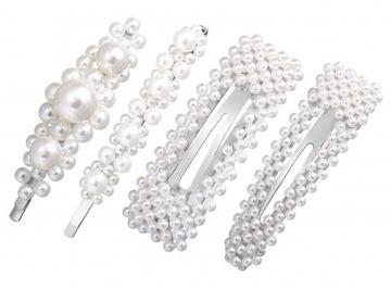 НАБОР заколка заколка для волос серебряная шарики доставка товаров из Польши и Allegro на русском