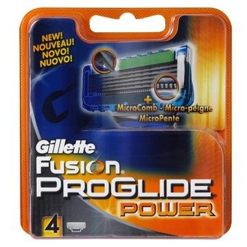 GILETTE FUSION PROGLIDE POWER-4ШТ-100% ОРИГИНАЛ доставка товаров из Польши и Allegro на русском