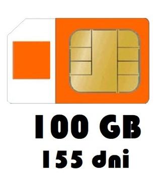 Интернет на карту 100GB Orange Free 155 дней, LTE доставка товаров из Польши и Allegro на русском