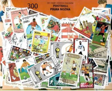 Набор 200 почтовых марок - ФУТБОЛ доставка товаров из Польши и Allegro на русском