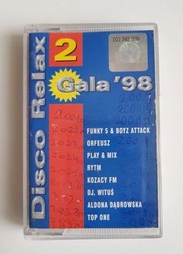 DISCO RELAX '98 верхний, ОРФЕЙ.. кассета аудио доставка товаров из Польши и Allegro на русском