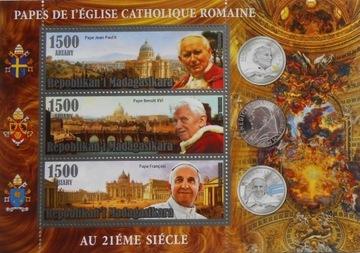 Римские папы xx века. Иоанн Павел II, Франциск Madag. #М2 доставка товаров из Польши и Allegro на русском