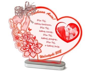 (День святого Валентина подарок Статуэтка Лампа +ВАШЕ ФОТО) доставка товаров из Польши и Allegro на русском